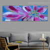 Calico Petals Floral Panoramic Modern Framed Smudge Photo Canvas Print for Room Wall Drape