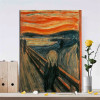 Edvard Munch Scream Abstract Painting Print Perfect For Home Wall Decor