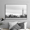 CN Tower Cityscape Modern Framed Effigy Photo Canvas Print for Room Wall Garniture