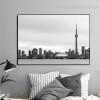 CN Tower Cityscape Modern Framed Effigy Photo Canvas Print for Room Wall Garniture