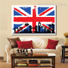 Big Ben England City Contemporary Framed Resemblance Portrait Canvas Print for Room Wall Disposition