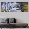 Semi Flower Abstract Panoramic Botanical Framed Likeness Picture Canvas Print for Room Wall Getup