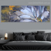 Half Bloom Abstract Panoramic Botanical Framed Painting Portrait Canvas Print for Room Wall Equipment