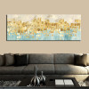Gold Money Sea Wave Abstract Painting Print for Home Wall Art Decoration.