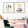 Fork knife Abstract Modern Framed Perspective Picture Canvas Print for Room Wall Ornament