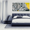 Abstract Zebra Animal Framed Smudge Picture Canvas Print for Room Wall Drape