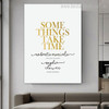 Something's Calligraphy Modern Nordic Framed Scheme Picture Canvas Print for Lounge Room Wall Disposition