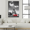 Eiffel Tower in Paris Landscape Paintings Print for Living Room Wall Décor.