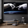 Astronaut Landscape Framed Likeness Photo Canvas Print for Room Wall Flourish