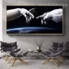 Astronaut Landscape Framed Likeness Photo Canvas Print for Room Wall Finery