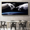 Astronaut Landscape Framed Likeness Photo Canvas Print for Dining Room Wall Decor