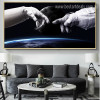Astronaut Landscape Framed Likeness Photo Canvas Print for Lounge Room Wall Decoration