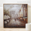 De Triomphe Landscape Abstract Modern Framed Resemblance Image Canvas Print for Room Wall Decor