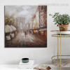 De Triomphe Landscape Abstract Modern Framed Resemblance Image Canvas Print for Room Wall Ornament