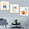 Colorful Utensils Abstract Modern Framed Vignette Image Canvas Print for Dining Room Wall Getup