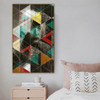 Albert Einstein Abstract Geometric Contemporary Framed Scheme Image Canvas Print for Living Room Wall Drape