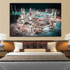 The Great Islamic Mosque Kabba of Mecca Print for Room Wall Decoration.