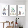 Bruin Mole Kids Abstract Animal Modern Framed Effigy Picture Canvas Print for Room Wall Finery