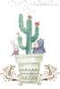Echinopsis Pachanoi Cactus Botanical Kids Animal Abstract Modern Framed Portmanteau Picture Canvas Print