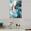 Colorific Abstract Modern Framed Portraiture Photo Canvas Print for Living Room Wall Finery