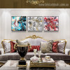Colorific Imagination Abstract Contemporary Framed Vignette Portrait Canvas Print for Living Room Wall Flourish