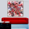 Reddish Abstract Contemporary Framed Smudge Portrait Canvas Print for Living Room Wall Onlay