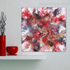 Reddish Abstract Contemporary Framed Smudge Portrait Canvas Print for Room Wall Getup
