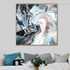Color Fusion Abstract Contemporary Framed Painting Shot Canvas Print for Artwork Decor