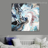 Color Fusion Abstract Contemporary Framed Painting Shot Canvas Print for Living Room Wall Ornament