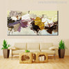 Abstract Flower Bouquet Painting Canvas Print for Living Room Wall Art Décor.