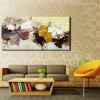 Modern Abstract Flower Bouquet Painting Print for Living Room Wall Art.