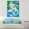 A Little Girl Animal Animated Watercolor Framed Artwork Photo Canvas Print for Room Wall Decoration