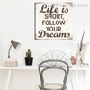 Short Life Typography Framed Painting Image Canvas Print for Room Wall Getup
