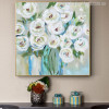 White Rose Flowers Handmade Painting Print for Home Wall Décor