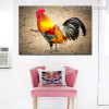 Colorful Cock Bird Modern Framed Effigy Photo Canvas Print for Room Wall Getup