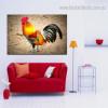 Colorful Cock Bird Modern Framed Effigy Photo Canvas Print for Wall Drape