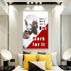 Don't Wish Typography Illustrated Modern Nordic Framed Decorative Painting Picture Canvas Print for Room Wall Ornament