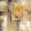 Yellow Abstract Oil Painting Print