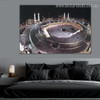 Great Mosque Mecca Islamic Religious Contemporary Framed Artwork Photo Canvas Print for Room Wall Ornament