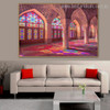 Pink Mosque Islamic Religious Contemporary Framed Effigy Image Print for Room Wall Flourish