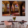 Mosque Inside Islamic Religious Contemporary Framed Smudge Image Print Dining Room Wall Flourish
