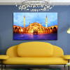 Sultan Ahmed Masjid Islamic Religion & Spirituality Contemporary Framed Painting Photo Canvas Print for Room Wall Decor
