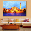 Sultan Ahmed Masjid Islamic Religion & Spirituality Contemporary Framed Painting Photo Canvas Print for Wall Assortment