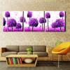 Purple Ficus Botanical Modern Framed Artwork Photo Canvas Print for Wall Decor