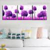 Purple Ficus Botanical Modern Framed Artwork Photo Canvas Print for Wall Adornment