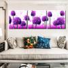 Purple Ficus Botanical Modern Framed Artwork Photo Canvas Print for Wall Flourish