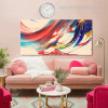Color Mixer Abstract Contemporary Framed Painting Photo Canvas Print for Wall Outfit