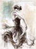 Abstract Dancing Girl Oil Painting Canvas Print