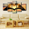 Gesture of Love Abstract Modern Framed Painting Picture Canvas Print for Room Wall Embellishment