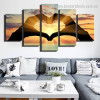Gesture of Love Abstract Modern Framed Painting Picture Canvas Print for Room Wall Onlay